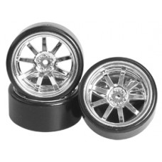 Tamiya DB01 Hop-Up Option 1/10 9 Spoke Wheel & Tyre Set For Drift(7mm Offset)