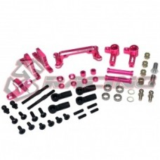 3RACING Front IFS Damper System(Pink) for SAKURA DRIFT  D4RWD only