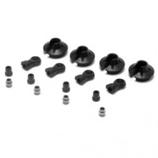 Losi 15mm Shock Ends, Cups, Bushing: 8B 2.0
