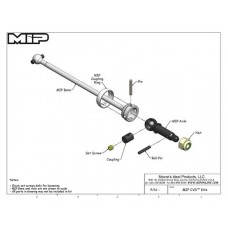MIP Shiny C-CVD™ Kit, Rear, TLR 22-4 #14180