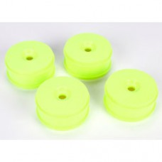 TLR 1/8 Buggy Dish Wheel, Yellow (4): 8IGHT Buggy 3.0